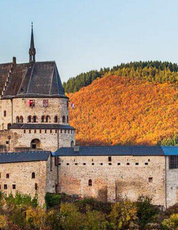 Luxembourg Famous castle of Vianden